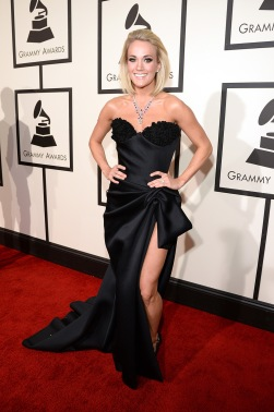 LOS ANGELES, CA - FEBRUARY 15: Carrie Underwood attends The 58th GRAMMY Awards at Staples Center on February 15, 2016 in Los Angeles, California. (Photo by Kevin Mazur/WireImage)